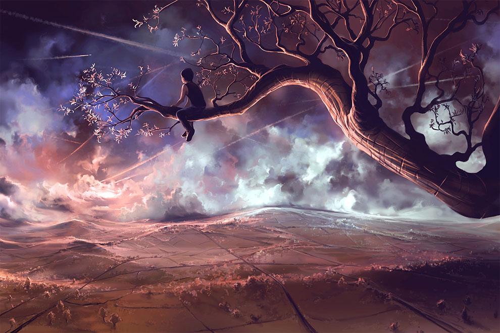 44765 Dream Woman, Winter, Wolf ............