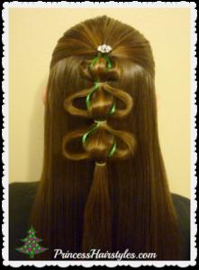 51722 3D Christmas Tree Hair Tutorial
