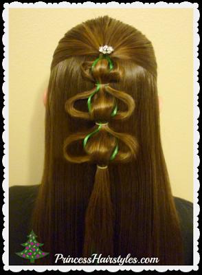 3D Christmas Tree Hair Tutorial