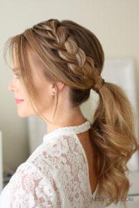 51857 Lace Braid Ponytail