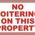 73759 No Loitering Please