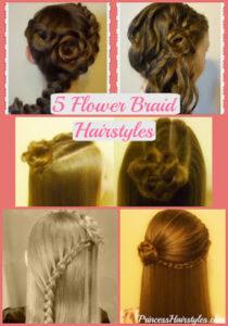 73056 Flower Girl Hairstyles! 5 Braided Rose Hairstyles, Part 2