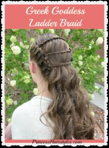 73052 Greek Goddess Ladder Braid, Wedding and Prom Hairstyles