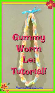 73033 How To Make A Graduation Lei Using Gummy Worm Braids!