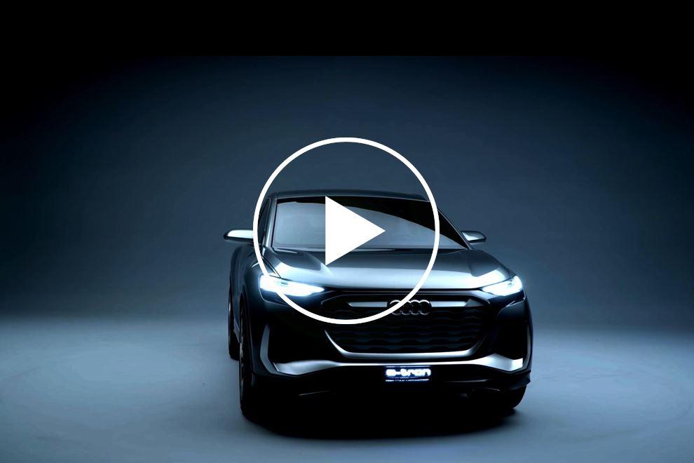 87991 Audi Teases Stylish Q4 Sportback e-tron Concept