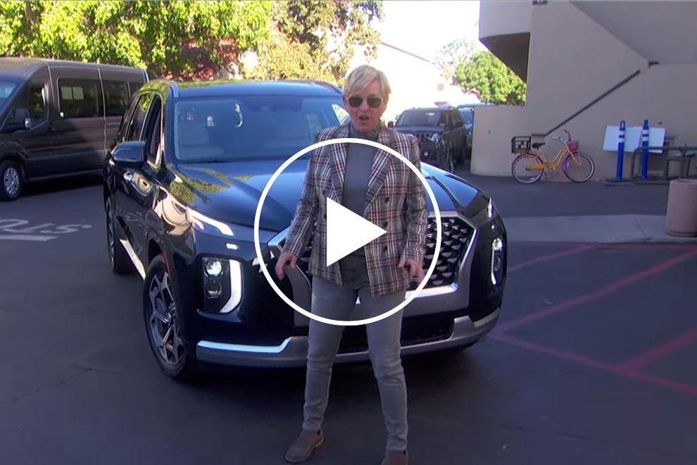 91914 Ellen DeGeneres Gifts Frontline Workers New Hyundai Palisade