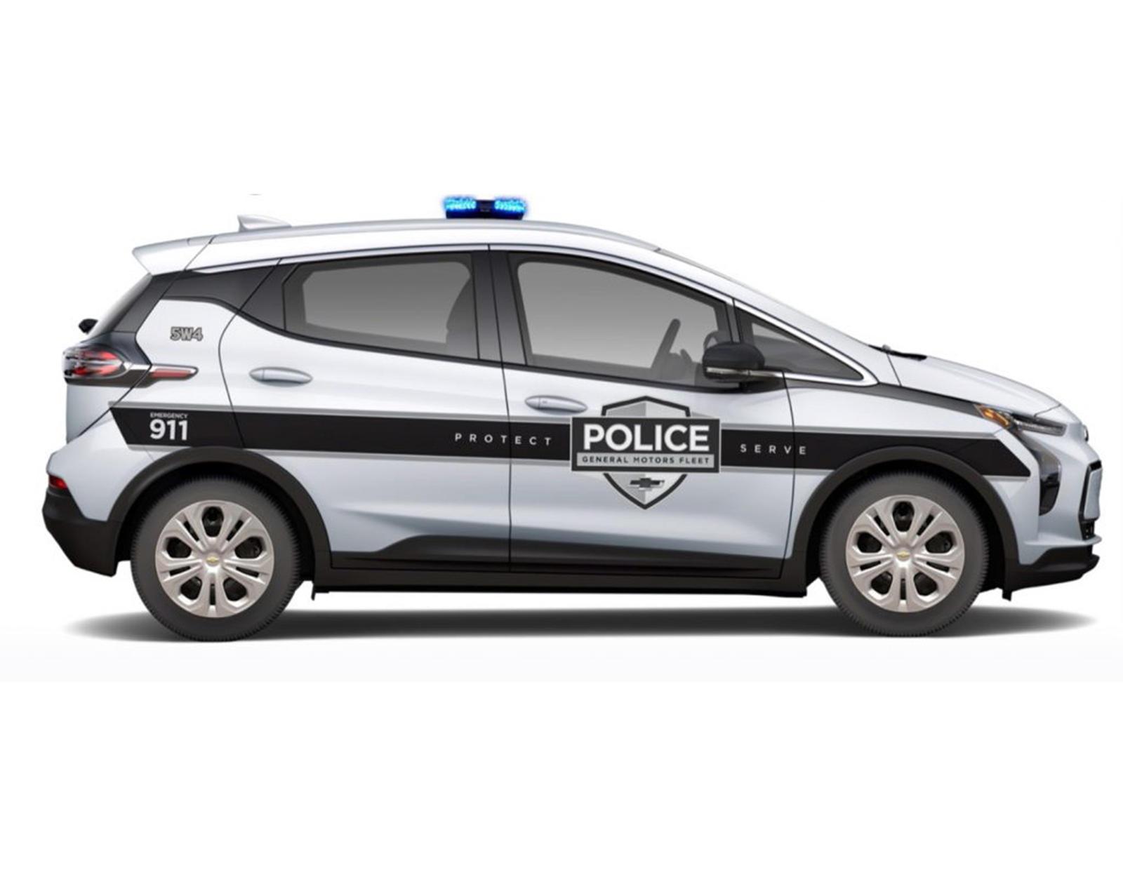 95701 2022 Chevrolet Bolt EV Cop Car Will Struggle To Catch Criminals