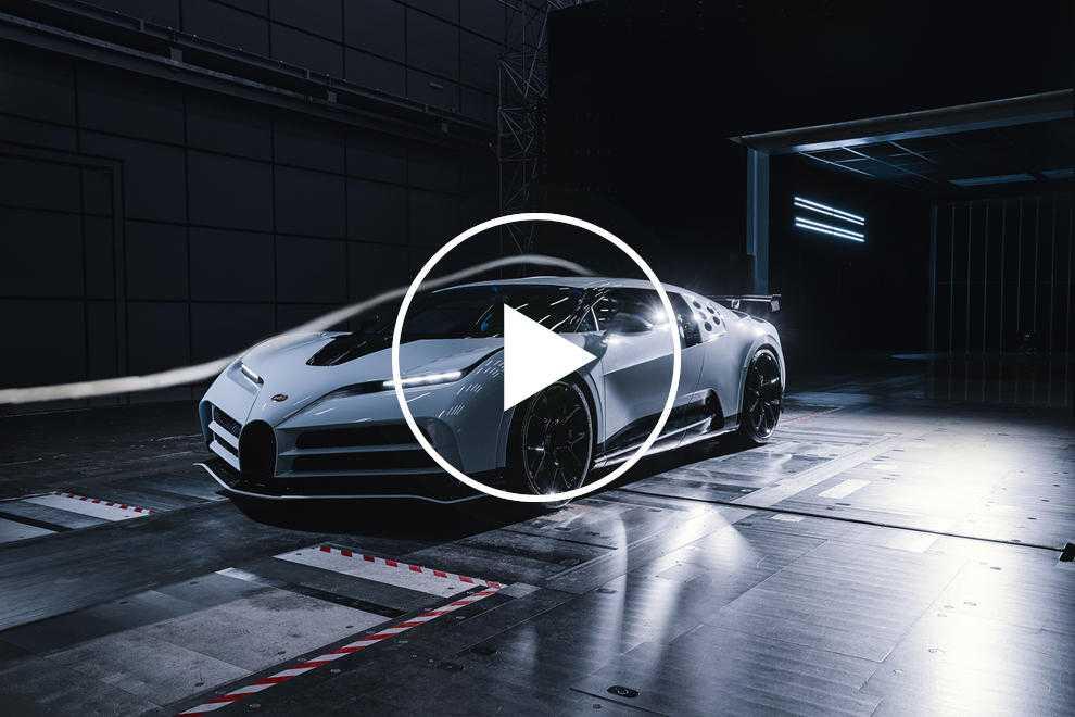 96125 Watch Bugatti Test The Centodieci In A Wind Tunnel